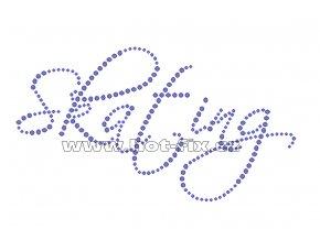 C013 - Skating nažehlovací hot-fix kamínková aplikace na textil, rozměry cca 17,2x9,5cm