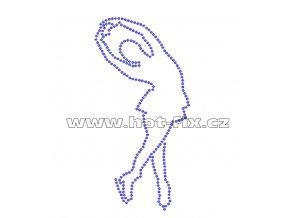 C016 - krasobruslařka nažehlovací potisk z hot-fix kamenů, rozměry cca 7,1x14,3cm