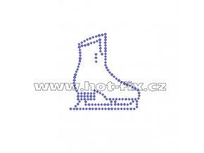C018 - brusle nažehlovací potisk z hot-fix kamenů, rozměry cca 8,1x9,9cm