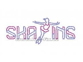 C026 - Skating nažehlovací hot-fix kamínková aplikace na textil, rozměry cca 16,0x6,3cm