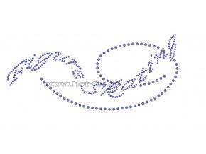 C086 - figure skating nažehlovací potisk na textil z hot-fix kamenů, rozměry cca 19,3x8,7cm