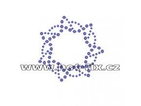 O023 - ornament nažehlovací potisk na textil z hot-fix kamenů, rozměry cca 6,1x6,2cm