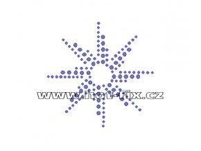 O024 - ornament nažehlovací potisk z hot-fix kamenů, rozměry cca 7,8x7,8cm