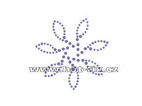 O030 - ornament nažehlovací hot-fix kamínková aplikace na textil, rozměry cca 7,6x7,6cm