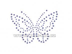 ZM002 - nažehlovací potisk z hot-fix kamenů motýl, rozm. cca 10,2x7,4cm