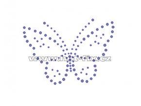 ZM003 - nažehlovací potisk z hot-fix kamenů motýl, rozm. cca 10,2x7,4cm