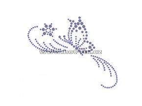 ZM014-L - nažehlovací potisk z hot-fix kamenů motýl, rozm. cca 12,6x10,0cm