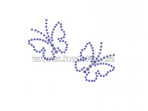 ZM032 - nažehlovací potisk z hot-fix kamenů motýlci, rozm. cca 8,4x6,0cm