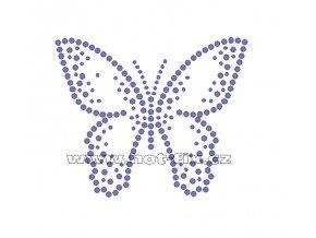 ZM034 - nažehlovací potisk z hot-fix kamenů motýl, rozm. cca 10,0x8,3cm