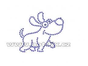 ZP016 - nažehlovací potisk z hot-fix kamenů pes, rozm. cca 6,5x6,0cm