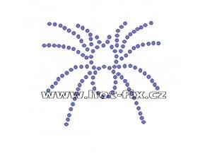 ZL002-A - nažehlovací potisk z hot-fix kamenů pavouk, rozm. cca 8,8x7,8cm