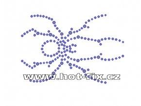 ZL004 - nažehlovací potisk z hot-fix kamenů pavouk, rozm. cca 9,0x6,1cm