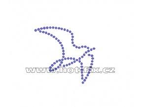 ZE013 - nažehlovací potisk z hot-fix kamenů, rozm. cca 5,2x4,9cm