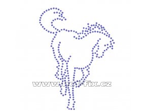ZK003 - nažehlovací potisk z hot-fix kamenů kůň, rozm. cca 9,6x13,0cm