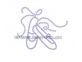 C014 baletní špičky nažehlovací kamínkový potisk na tričko, dres pro balet hot fix kamínky