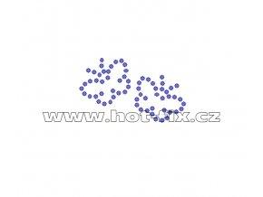 ZM004 - nažehlovací potisk z hot-fix kamenů motýlci, rozměry cca 4,7x2,9cm