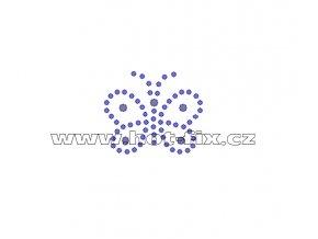 ZM009 - nažehlovací potisk z hot-fix kamenů motýl, rozměry cca 3,7x3,2cm