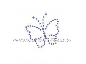 ZM008 - nažehlovací potisk z hot-fix kamenů motýl, rozměry cca 5,0x5,0cm