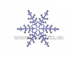SV002 - nažehlovací hot-fix kamínkový potisk sněhová vločka, rozměry cca 6,9x6,0cm