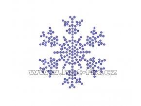 SV005 - zažehlovací kamínkový potisk sněhová vločka, rozměry cca 6,1x6,7cm