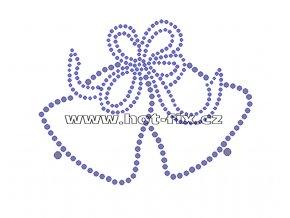 SV006-A - vánoční zvonky nažehlovací hot-fix kamínková aplikace na textil, rozměry cca 11,5x9,0cm