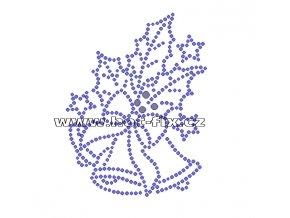 SV012-A - hot-fix nažehlovací potisk vánoční zvonky, rozměry cca 8,0x10,4cm