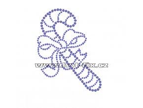 SV025-A - nažehlovací kamínkový potisk vánoční motiv, rozměry cca 8,2x10,5cm