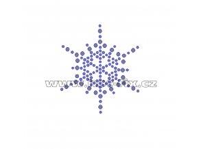 SV029 - zažehlovací kamínkový potisk na textil sněhová vločka, rozměry cca 5,7x6,5cm