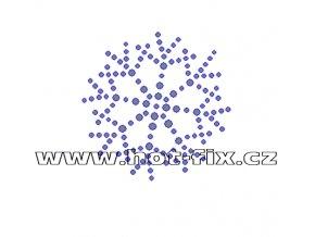 SV045 - zažehlovací kamínkový potisk na textil sněhová vločka, rozměry cca 5,8x5,8cm