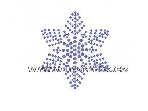 SV034 - nažehlovací kamínkový potisk sněhová vločka, rozměry cca 6,4x7,4cm