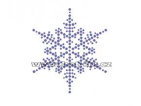 SV041 - nažehlovací kamínkový potisk sněhová vločka, rozměry cca 8,8x10,0cm