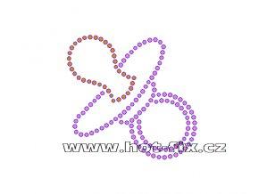 ND003-H - dudlík nažehlovací potisk na textil k narození holčičky, rozměry cca 8,2x7,9cm
