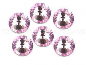 celobroušené hot-fix kameny Premium barva 105 Rose světlý, velikost SS30, balení 144ks, 720ks nebo 1440ks