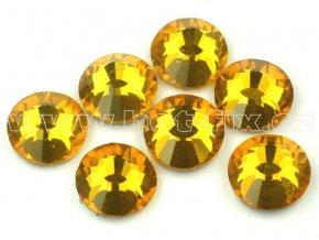 celobroušené hot-fix kameny Premium barva 109 Topaz, velikost SS30, balení 144ks, 720ks nebo 1440ks