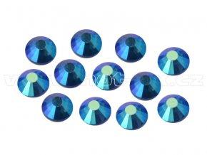 celobroušené hot-fix kameny Premium barva 205 AB Sapphire, velikost SS16, balení 144ks, 720ks nebo 1440ks