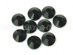 celobroušené hot-fix kameny Premium barva 124 Jet, velikost SS20, balení 144ks, 720ks nebo 1440ks