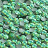kovové hot-fix kameny barva HG11 hologram světle zelený velikost 4mm, balení 100 nebo 500ks