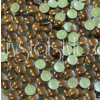 hot-fix kovové kamínky barva 37 TMAVĚ HNĚDÁ - sada 4x100ks (balení 2, 3, 4 a 5mm po 100ks)