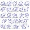 F002 písmena abeceda monogram nažehlovací kamínkový potisk na tričko, textil hot fix kameny