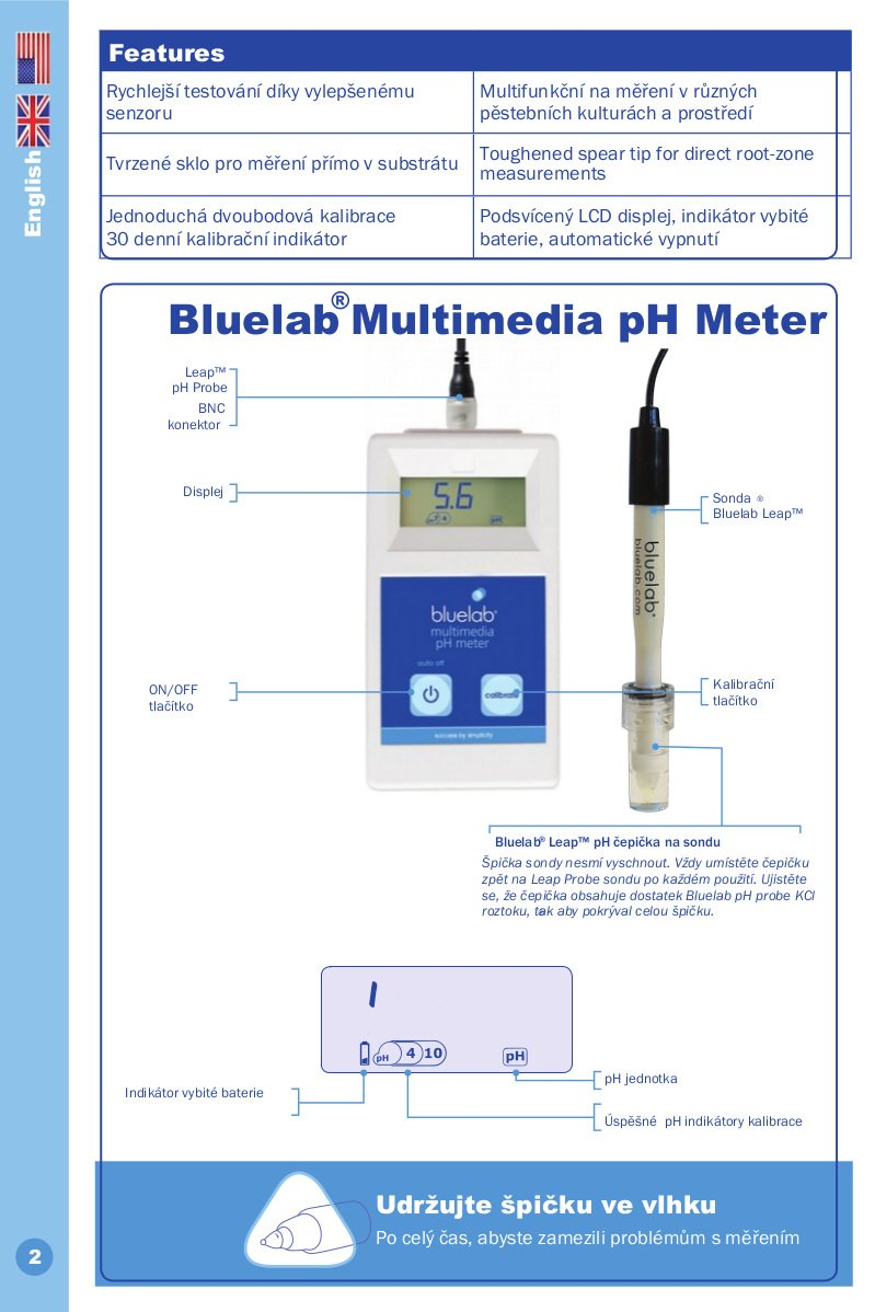 Bluelab-Multimedia-pHMeter-popis-produktu