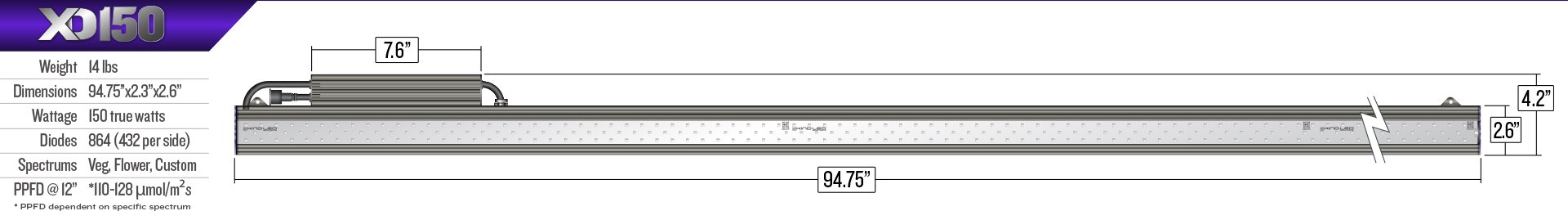 XD150_BAR_LIGHT_dimensions