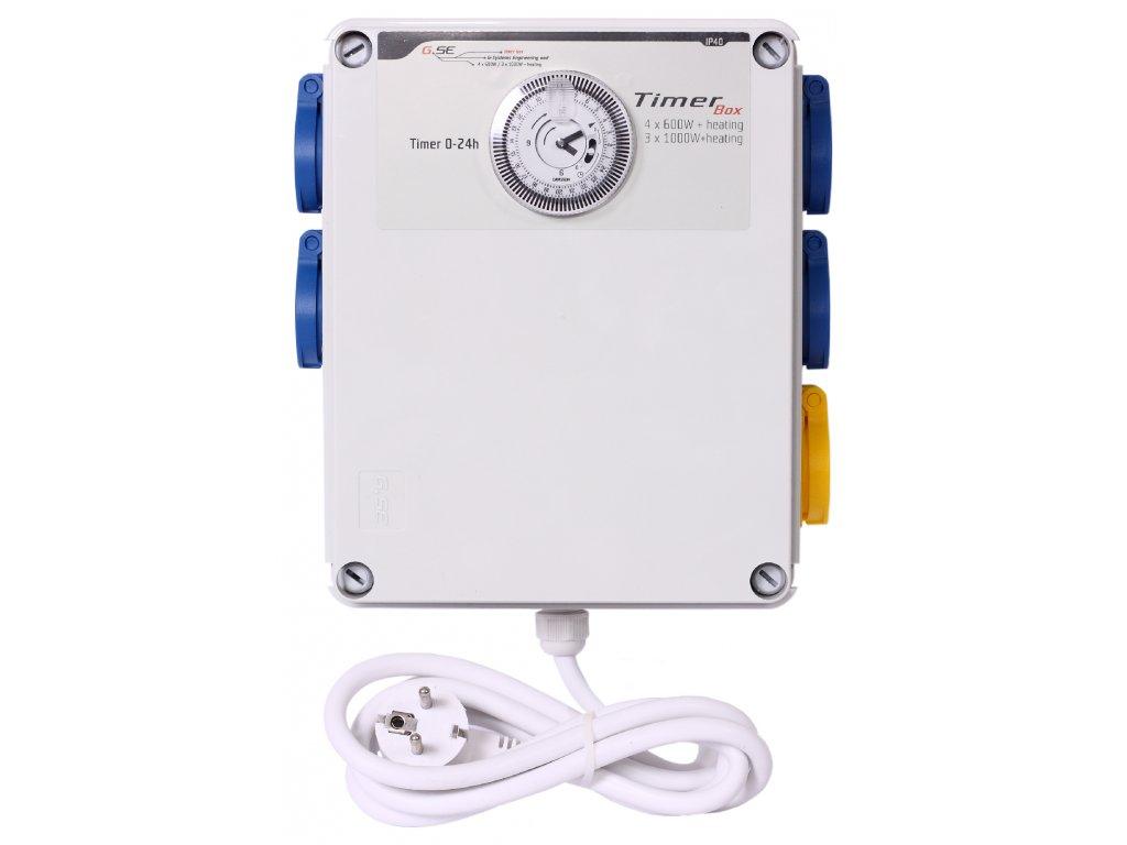 GSE Timer Box II 4x600W + topení 2000W - 230V