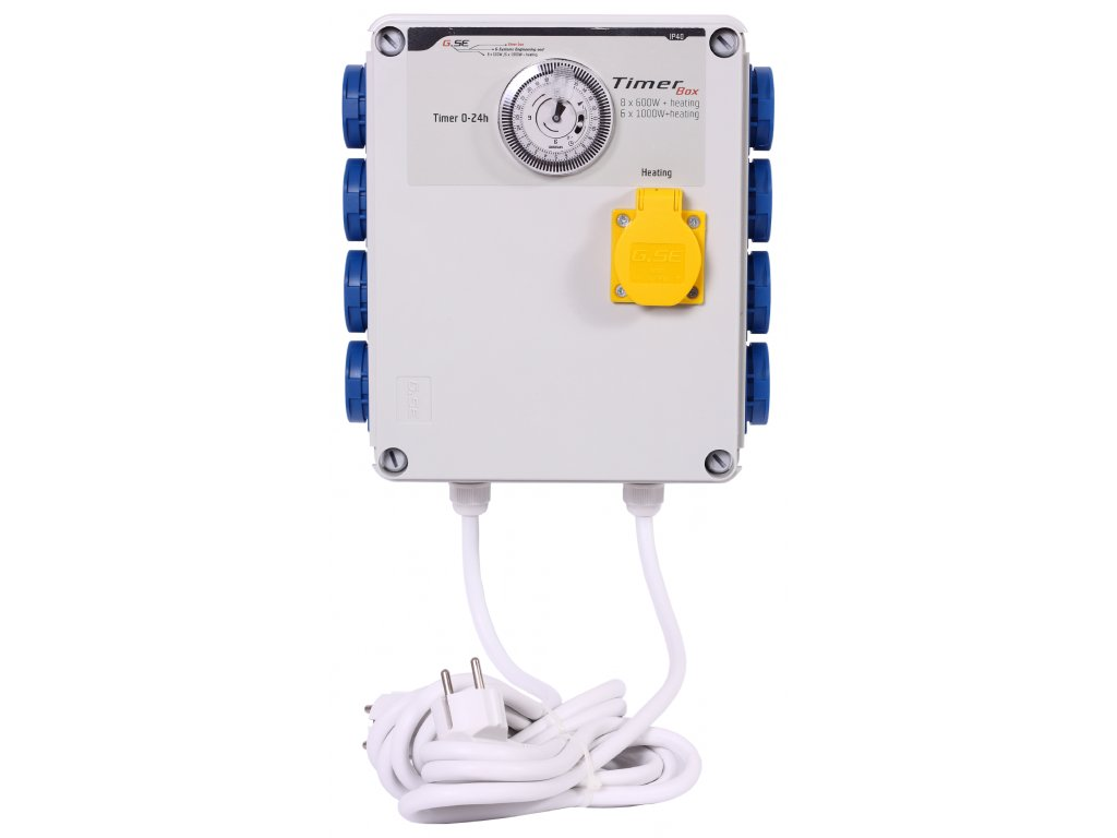 GSE Timer Box II 8x600W + topení 2000W - 230V