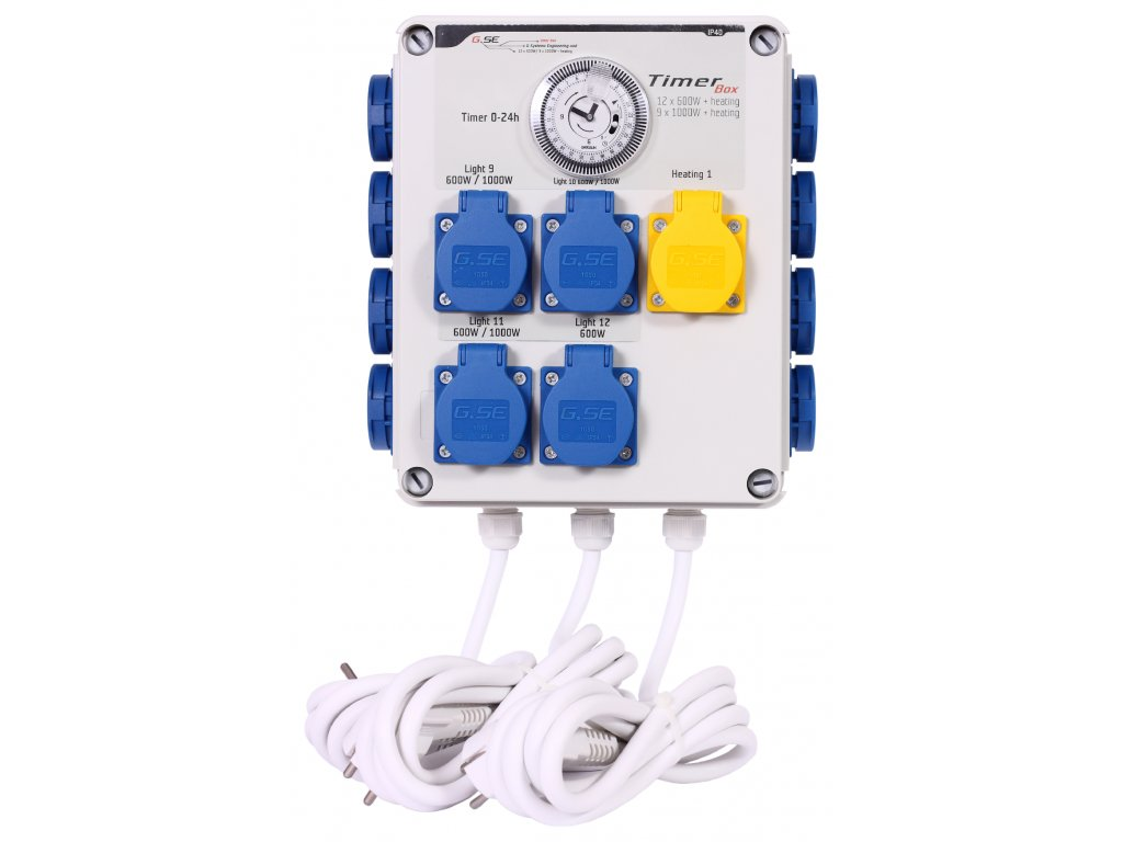 GSE Timer Box II 12x600W + topení 2000W - 230V