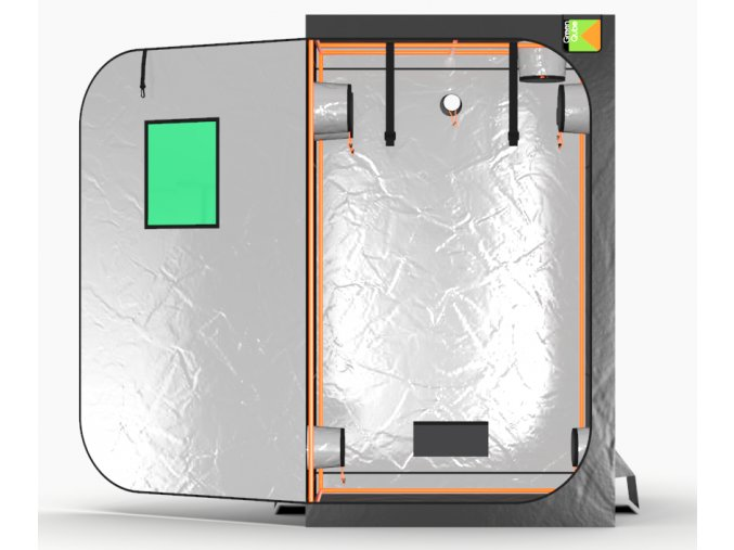 Green Qube V Grow Tent GQ120 1.2 x 1.2 x 2m OR 2.2m FRONT