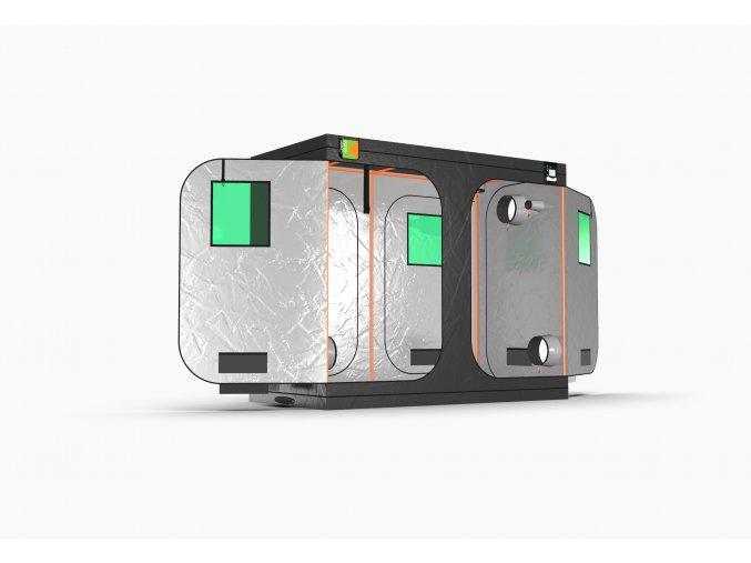 Green Qube V Grow Tent GQ1224 1.2 x 2.4 x 2m OR 2.2m FRONT