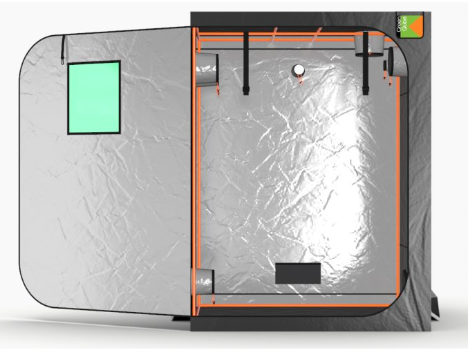 Green Qube V Grow Tent GQ150 1.5 x 1.5 x 2m OR 2.2m FRONT