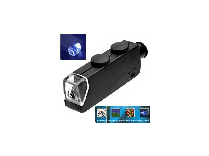 mg10081 1 microscope de poche 60x 100x zoom led lu