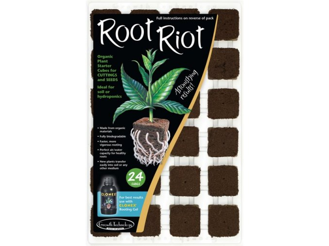 Root Riot sadbovací kostky včetně sadbovače - 24ks