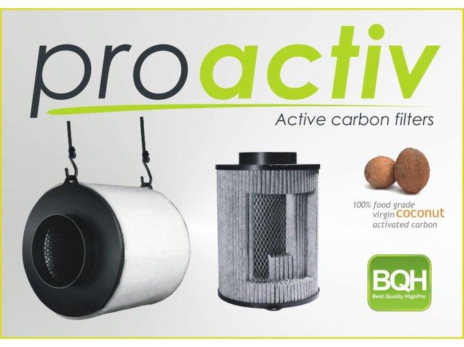 Kokosový filtr ProActiv - 250m3/h - Ø125